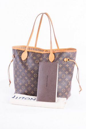 LOUIS VUITTON - Schultertasche Neverfull MM Monogram Canvas Beige