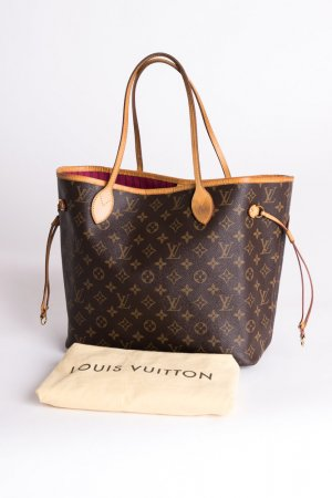 092b40fc7490 LOUIS VUITTON - Schultertasche Neverfull MM Monogram Canvas Pivoine