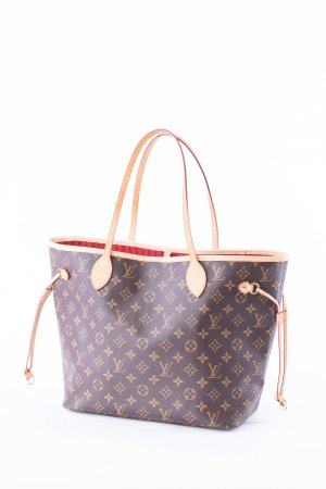 LOUIS VUITTON - Schultertasche Neverfull MM Monogram Canvas Rot