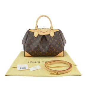 Louis Vuitton Sac bowling brun tissu mixte