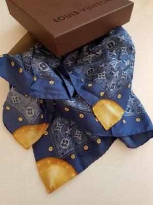 Louis Vuitton Pañuelo de seda azul acero