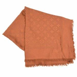 Louis Vuitton Bufanda de punto marrón Lana