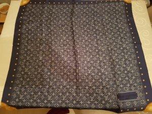 Louis Vuitton Écharpe en soie bleu