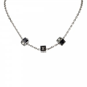 Louis Vuitton Collier argenté métal