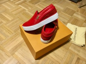 Louis Vuitton Basket slip-on rouge-blanc