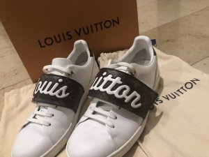 Louis Vuitton Velcro Sneakers brown-white