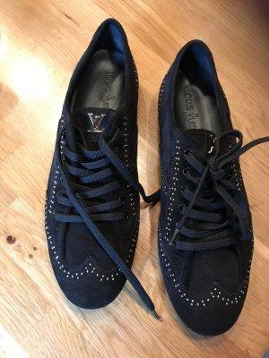 Louis Vuitton Sneaker Größe 40, Data Code GO 0122, schwarz Wildleder