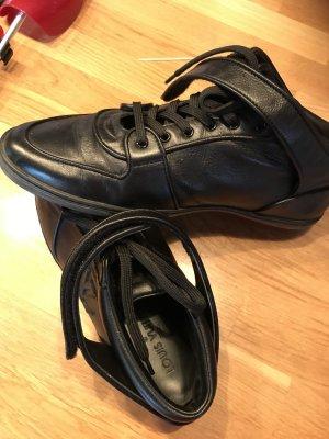 Louis Vuitton Sneaker Größe Größe 40, schwarz, Leder, Datacode GO 0180