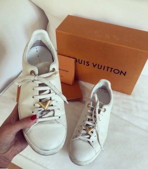 Louis Vuitton Zapatilla brogue blanco-color oro