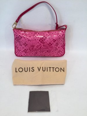 "Louis Vuitton Special Edition Pink Takashi Murakami Pochette ""Cosmic Blossoms"""