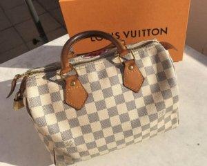 Louis Vuitton Speedy 25 Damier Azur weiss grau