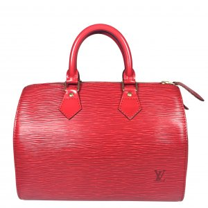 Louis Vuitton Sac à main rouge-doré