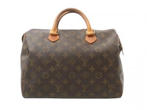 Louis Vuitton Handbag brown textile fiber