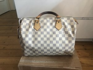 Louis Vuitton Speedy 30 Azur Handtasche Blogger Luxus