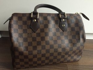 Louis Vuitton Carry Bag dark brown-brown linen