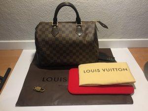 Louis Vuitton Bowlingtas zwart bruin-lichtbruin