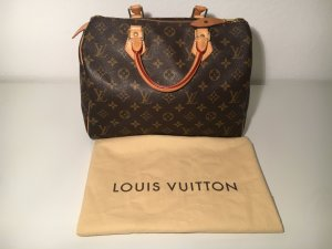 Louis Vuitton Sac Baril bronze cuir