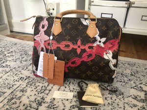 Louis Vuitton Speedy 30 Flowers Chains Handtasche