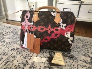 Louis Vuitton Speedy 30 Flowers Chains Handtasche