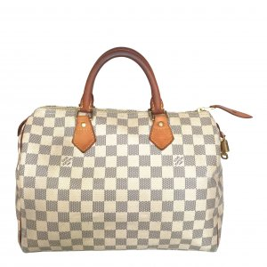 LOUIS VUITTON SPEEDY 30 HENKELTASCHE AUS DAMIER AZUR CANVAS