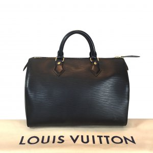 LOUIS VUITTON SPEEDY 30 HENKELTASCHE AUS EPI LEDER IN KOURIL SCHWARZ