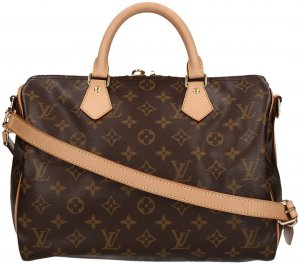 LOUIS VUITTON SPEEDY 30 HENKELTASCHE AUS MONOGRAM CANVAS MIT SCHULTERRIEMEN