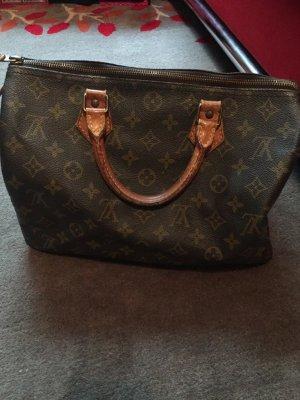Louis Vuitton Handbag dark brown-brown mixture fibre