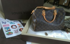 Louis Vuitton Bowling Bag brown-sand brown