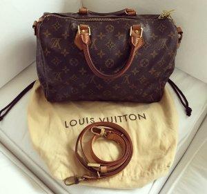 Louis Vuitton Speedy 30 Monogram Bandouliere Handtasche Luxus Top