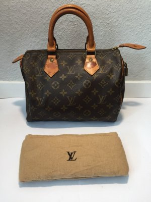 Louis Vuitton Sac bowling marron clair-brun foncé lin