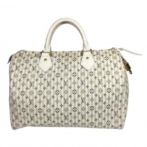 Louis Vuitton Speedy 30 Monogram Idylle Canvas Mini Lin Beige Creme Weiss Tasche