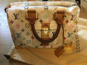Louis Vuitton Speedy 30 Multicolor White