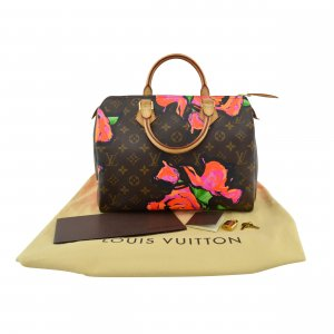 Louis Vuitton Speedy 30 Roses Limited Edition Stephen Sprouse (M48610)
