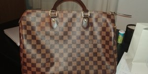 Louis Vuitton Carry Bag bronze-colored-sand brown linen