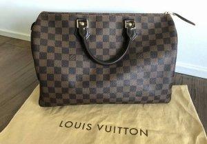 Louis Vuitton Sac à main brun foncé-brun cuir