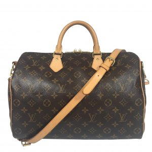 Louis Vuitton Speedy 35 Monogram Canvas mit Schulterriemen Tasche Handtasche