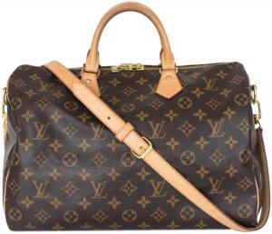 Louis Vuitton Speedy 35 Monogram Canvas Tasche Handtasche mit Schulterriemen