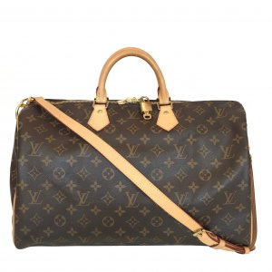 LOUIS VUITTON SPEEDY 40 HENKELTASCHE AUS MONOGRAM CANVAS MIT SCHULTERRIEMEN