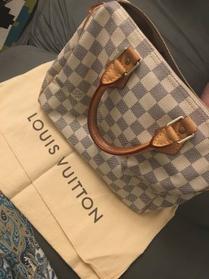 Louis Vuitton Carry Bag white-light grey leather