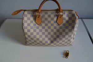 Louis Vuitton Speedy Damier Azur 30 Inkl. Shaper, Schloss mit Schlüssel