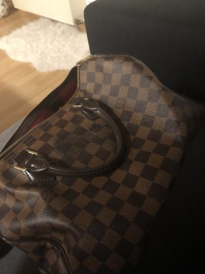 Louis Vuitton Bowling Bag cognac-coloured-bronze-colored leather