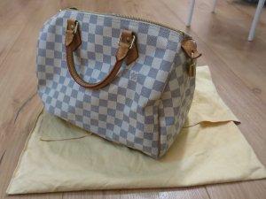 Louis Vuitton Speedy Tasche weiß blau, 30 Damier Azur