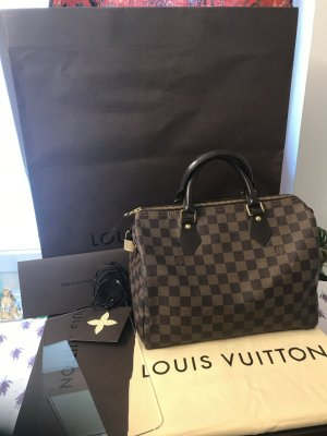 Louis Vuitton Borsetta marrone-nero-bronzo Pelle