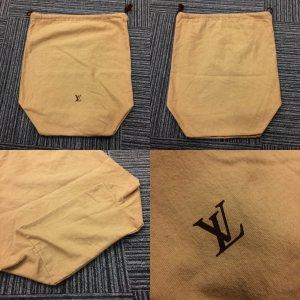Louis Vuitton Sac en toile brun sable coton
