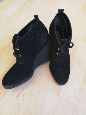 Louis Vuitton Wedge Booties black
