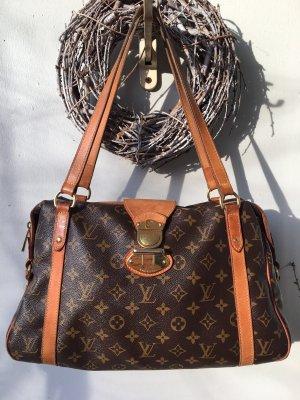Louis Vuitton Shoulder Bag dark brown-light brown
