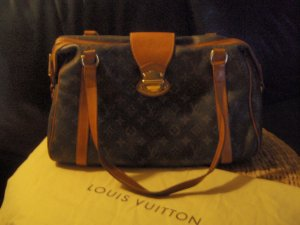 Louis Vuitton Carry Bag dark brown-gold-colored leather