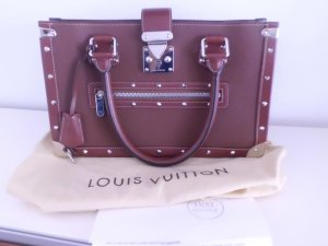 Louis Vuitton Handbag brown red leather