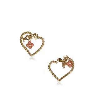 Louis Vuitton Sweet Monogram In My Heart Hoop Earrings