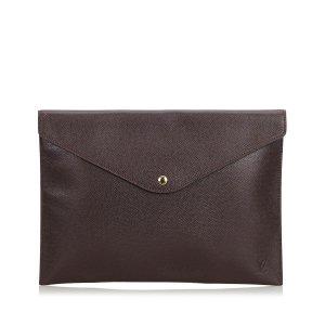 Louis Vuitton Taiga Document Case Clutch Bag
